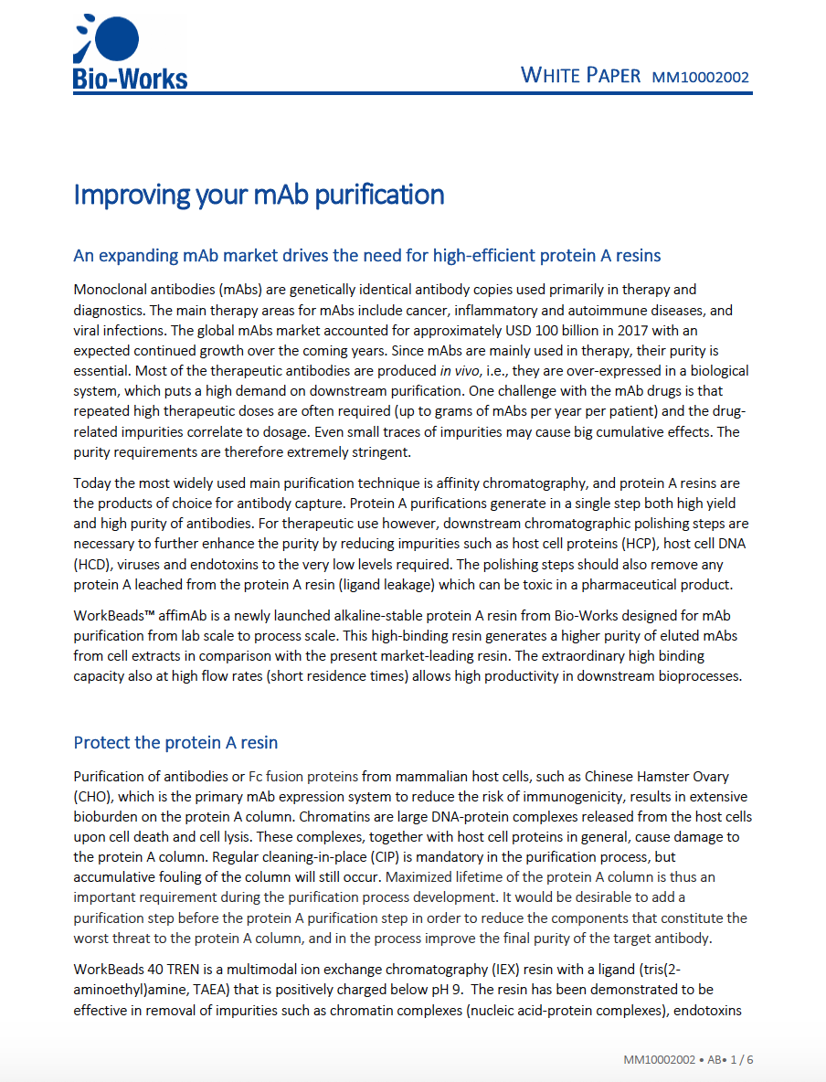Whitepaper improving your mAb purfication